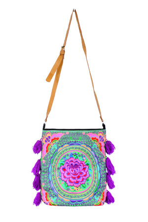 Load image into Gallery viewer, Embroidered Tassel Bag - Keshet Design