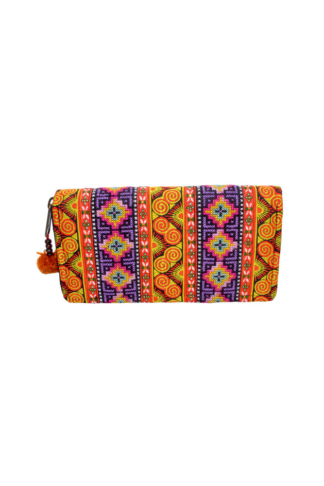 Embroidered Border Wallet - Keshet Unique Colourful Women's Clothing Tasmania Australia