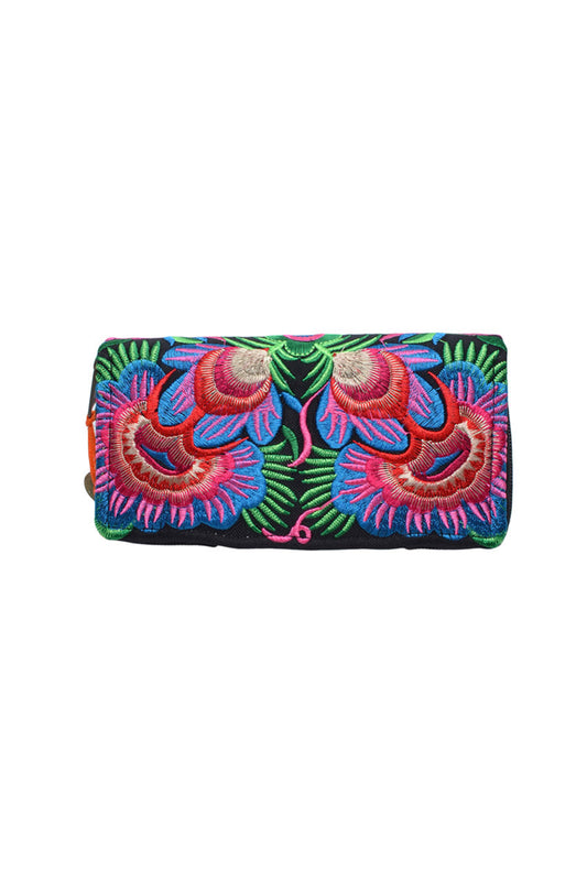 Hill Tribe Embroided Wallet - Keshet Unique Colourful Women's Clothing Tasmania Australia