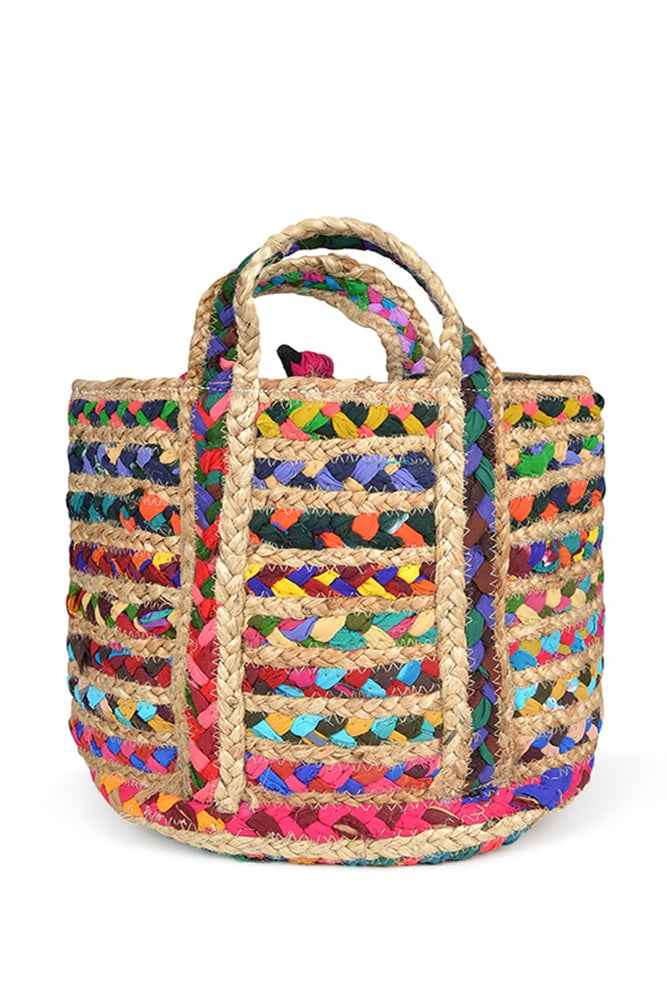 Load image into Gallery viewer, Small Jute Rug Bag - Keshet Unique Colourful Women's Clothing Tasmania Australia