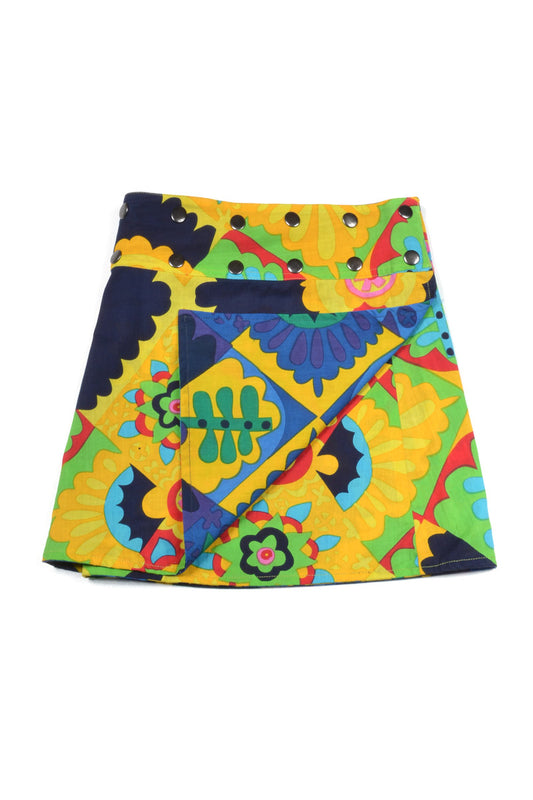 Mini Me Reversible Skirt - Keshet Unique Colourful Women's Clothing Tasmania Australia