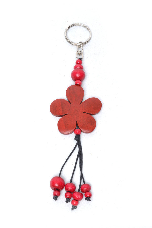 Load image into Gallery viewer, Wooden Flower Keyring - Keshet Design
