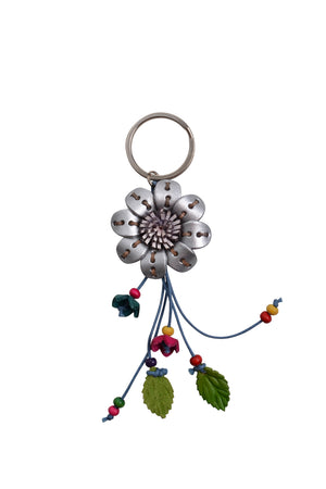Load image into Gallery viewer, Leather Flower Keyring - Keshet Design