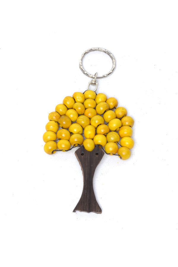 Big Wooden Tree Keyring - Keshet Unique Colourful Women's Clothing Tasmania Australia