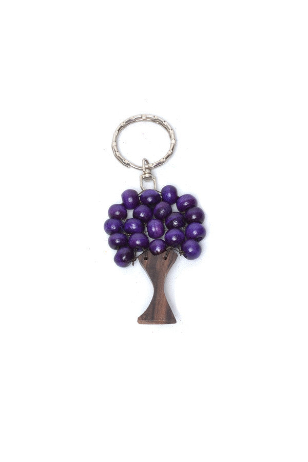 Small Wooden Tree Keyring