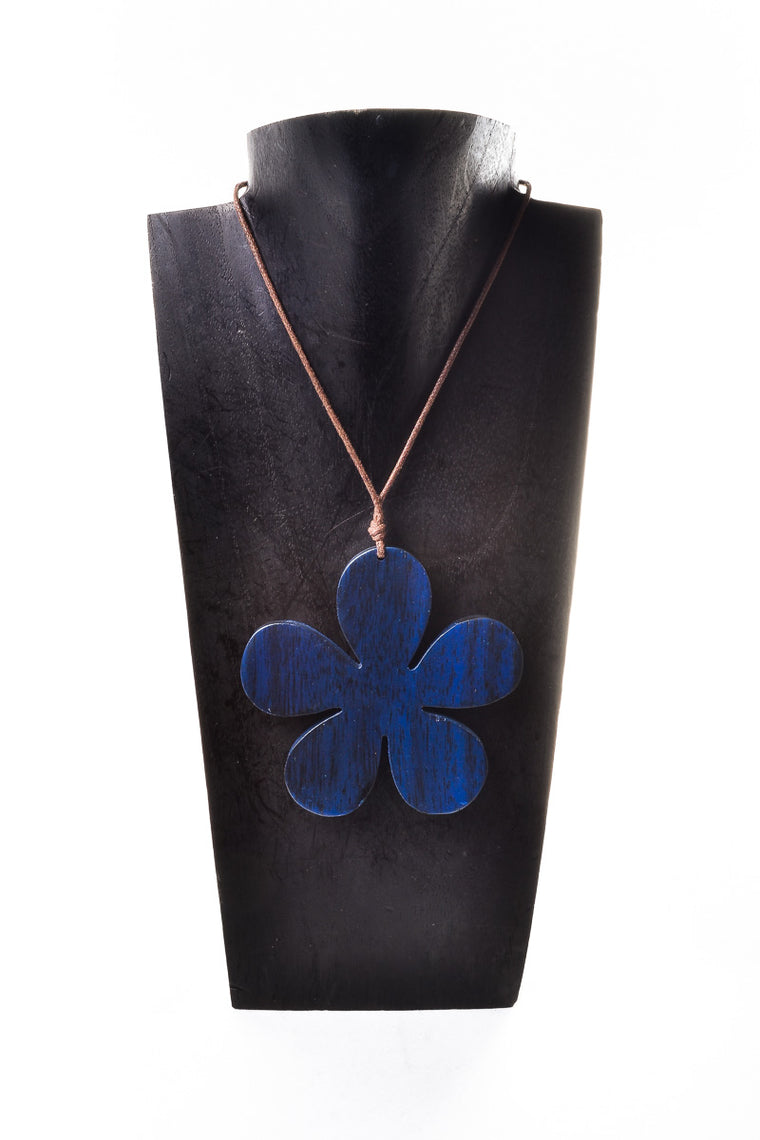 Wooden Large Flower Necklace - Keshet Clothing Tasmania