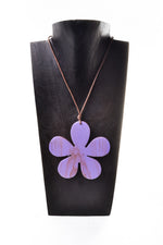 Wooden Large Flower Necklace