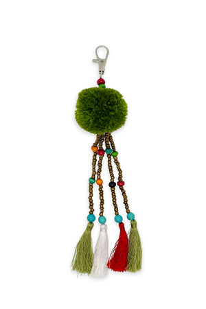 Bindi Pom Pom Keyring - Keshet Unique Colourful Women's Clothing Tasmania Australia