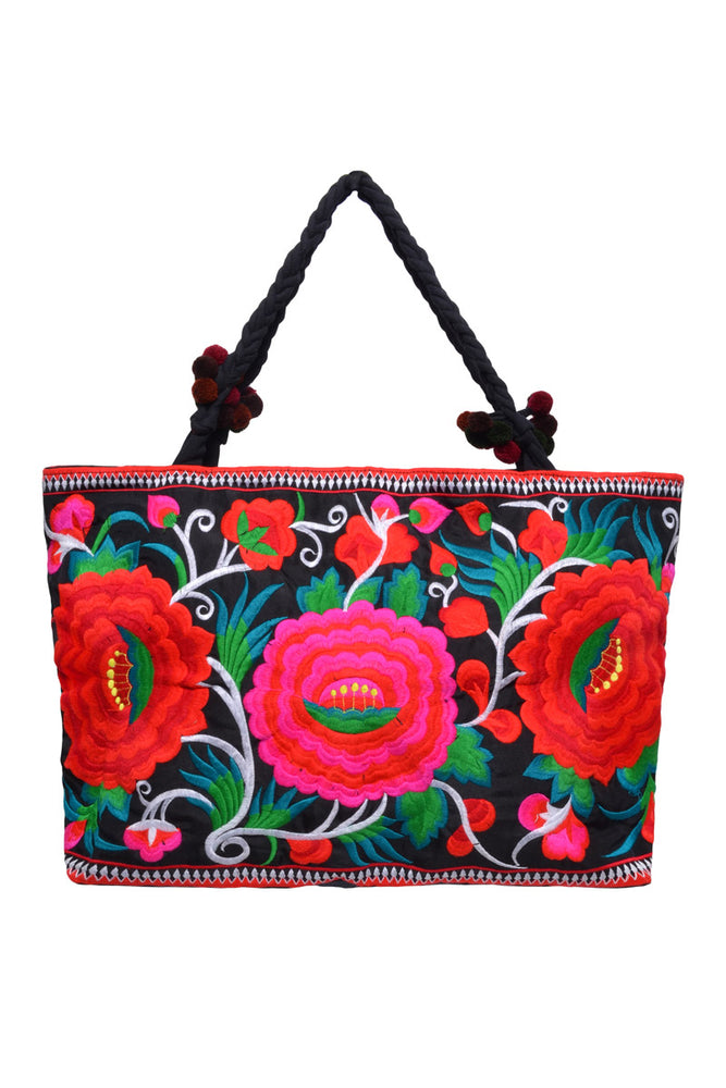 Large Rectangle Embroidered Bag - Keshet Unique Colourful Women's Clothing Tasmania Australia