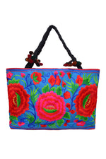 Large Rectangle Embroidered Bag - Keshet Design