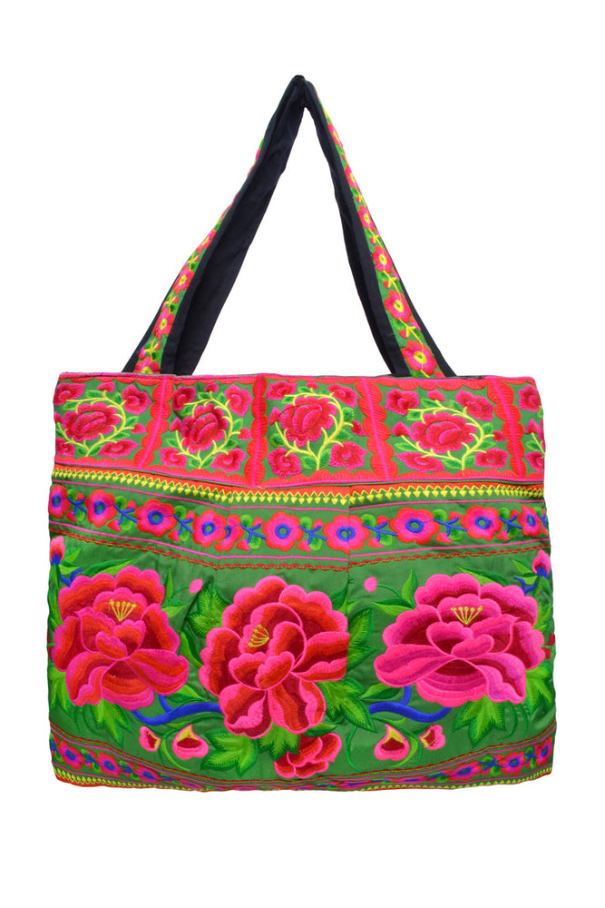 Large Square Embroidered Bag - Keshet Design