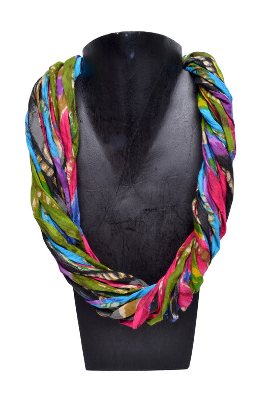 Layered Cloth Necklace - Keshet Unique Colourful Women's Clothing Tasmania Australia