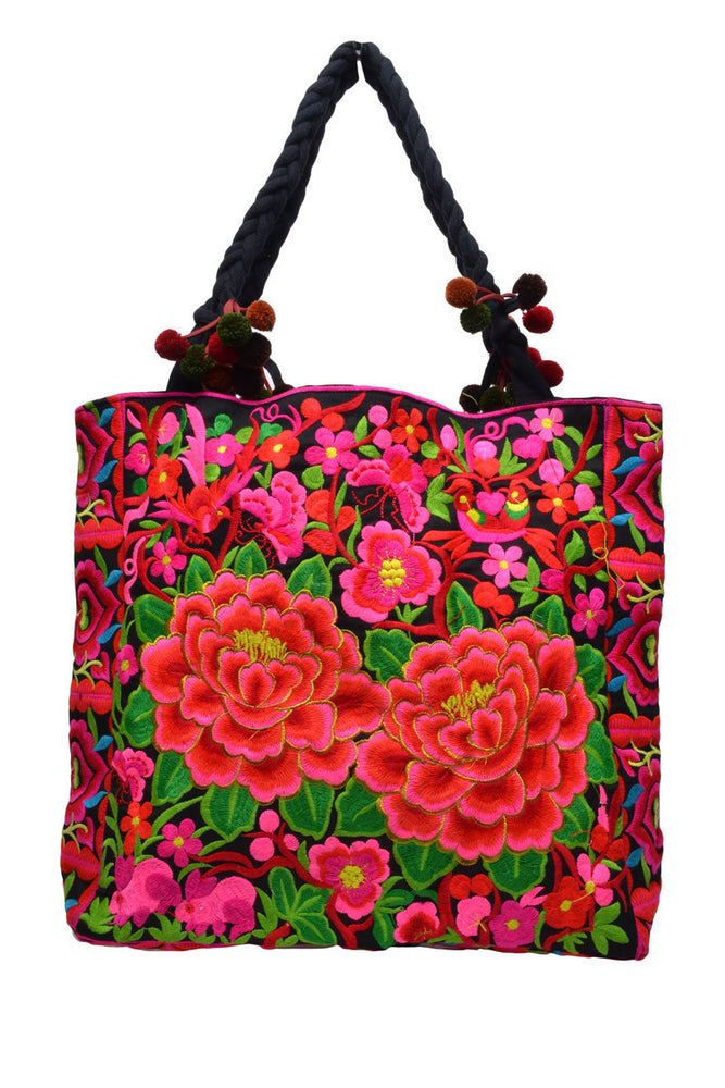 Medium Square Embroidered Bag - Keshet Design