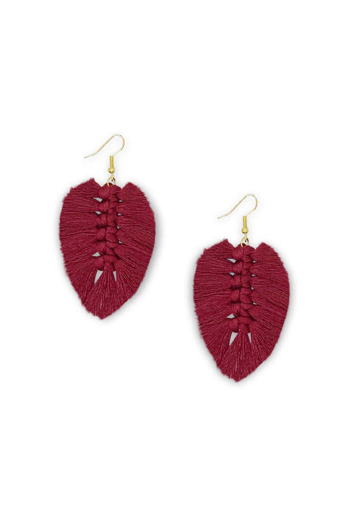 Load image into Gallery viewer, Monstera Earrings - Keshet Unique Colourful Women's Clothing Tasmania Australia