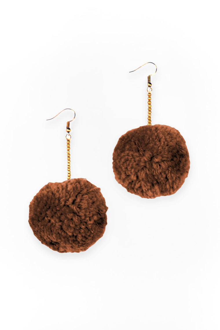 Boho Pom Pom Earrings - Keshet Clothing Tasmania