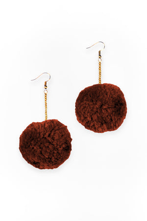 Boho Pom Pom Earrings - Keshet Unique Colourful Women's Clothing Tasmania Australia
