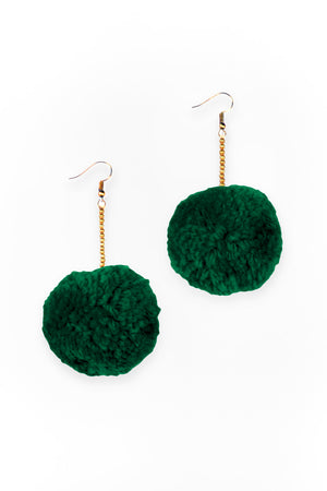Boho Pom Pom Earrings - Keshet Design