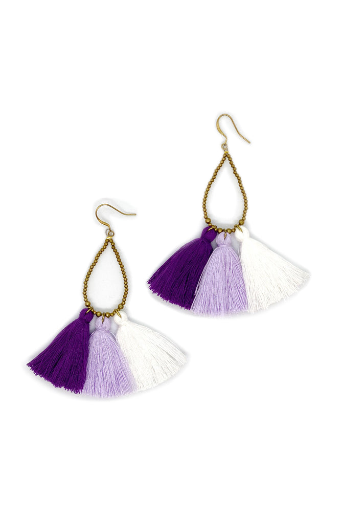 Clara Tassel Earrings - Keshet Unique Colourful Women's Clothing Tasmania Australia