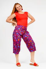 Sienna 3/4 Pocket Gather Pants Print