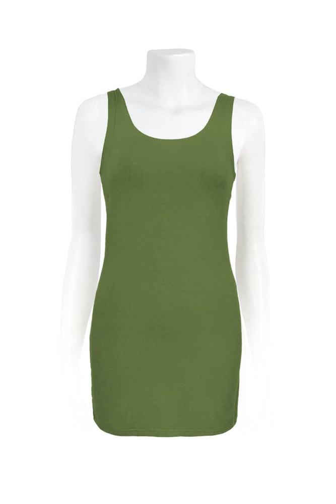 Basic Long Singlet Plain - Keshet Unique Colourful Women's Clothing Tasmania Australia