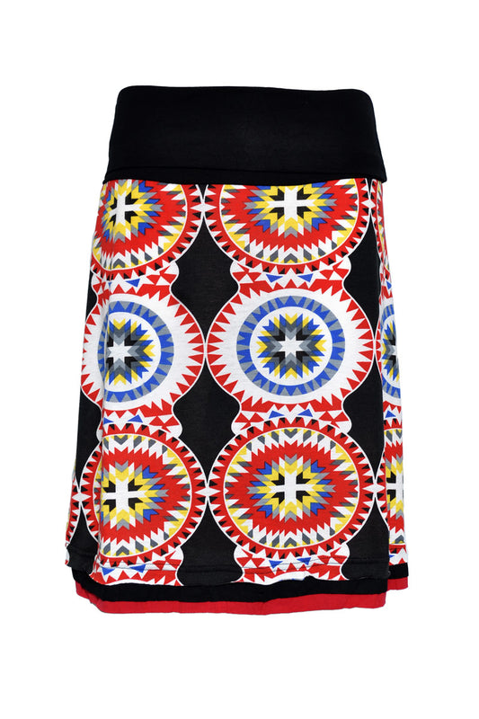 (SMS) Summer Knit Knee Length Edging Skirt - Keshet Clothing Tasmania
