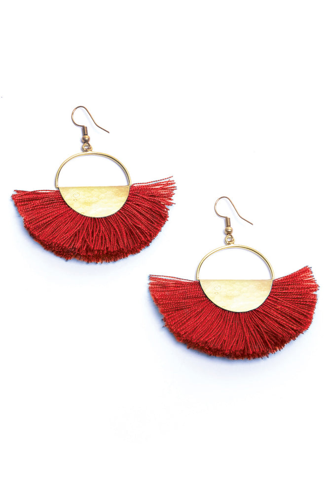 Load image into Gallery viewer, Elemental Fan Earrings - Keshet Unique Colourful Women's Clothing Tasmania Australia