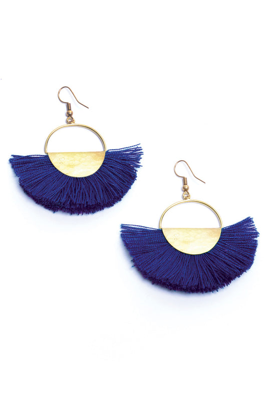 Elemental Fan Earrings - Keshet Unique Colourful Women's Clothing Tasmania Australia