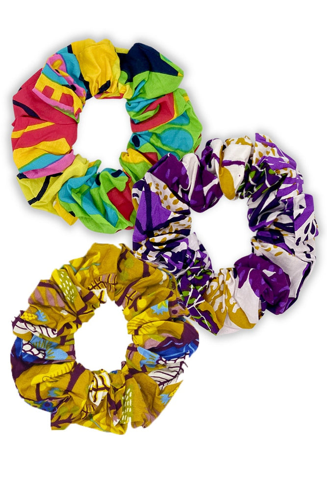 Cotton Scrunchies 3 Pack - Keshet Unique Colourful Women's Clothing Tasmania Australia