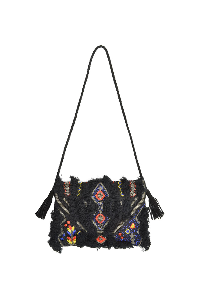 Load image into Gallery viewer, Night Sky Hand Beaded Embellished Bag