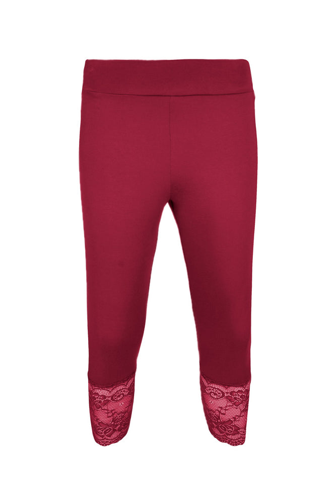 Load image into Gallery viewer, Basic Lace Trim Leggings - Keshet Unique Colourful Women's Clothing Tasmania Australia