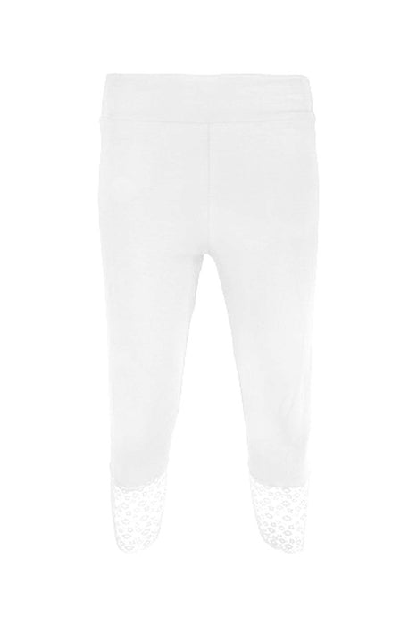Basic Lace Trim Leggings - Keshet Unique Colourful Women's Clothing Tasmania Australia