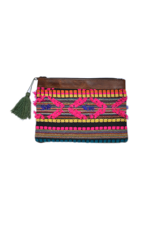 Textured Leather Clutch - Keshet Unique Colourful Women's Clothing Tasmania Australia