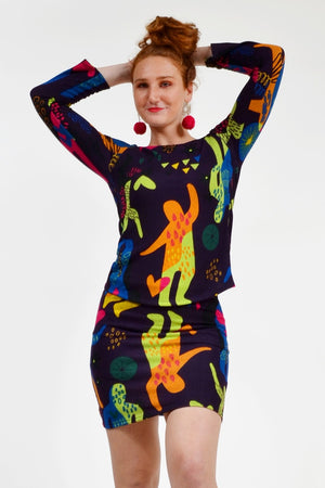 Load image into Gallery viewer, The Twiggy Twist Top - Keshet Unique Colourful Women's Clothing Tasmania Australia