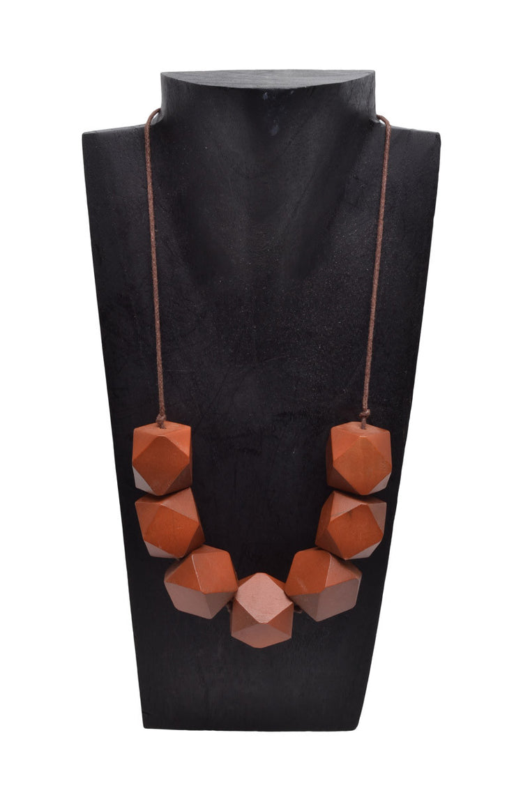 Wooden Cubic Necklace