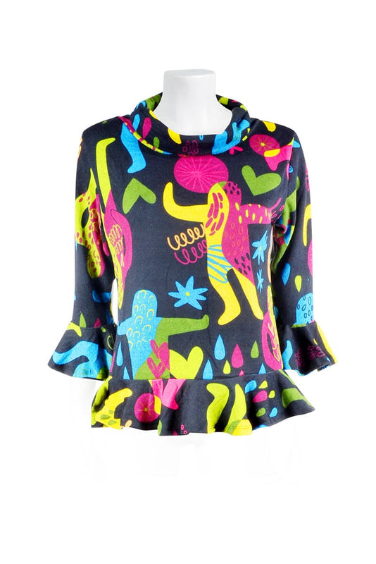 Luna Ruffle Top - Keshet Unique Colourful Women's Clothing Tasmania Australia