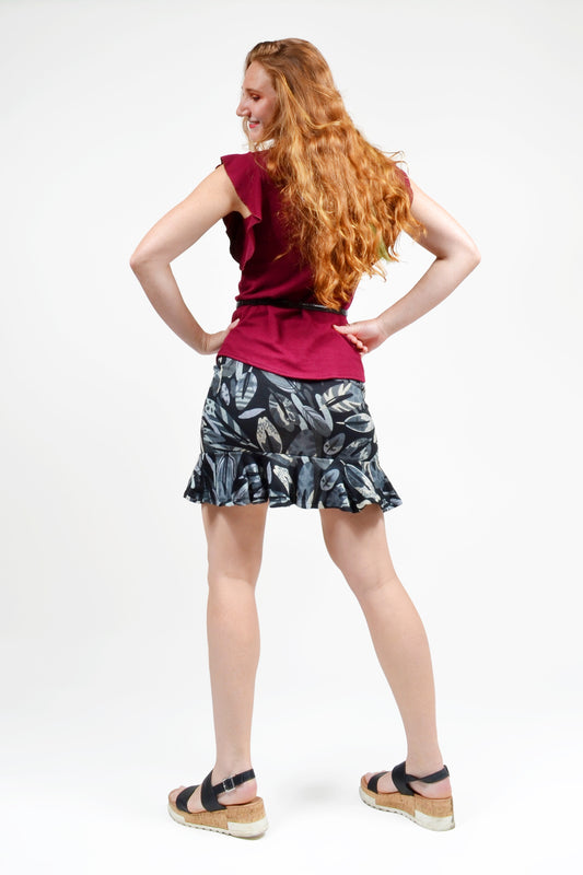 Luna Ruffle Skirt - Keshet Unique Colourful Women's Clothing Tasmania Australia