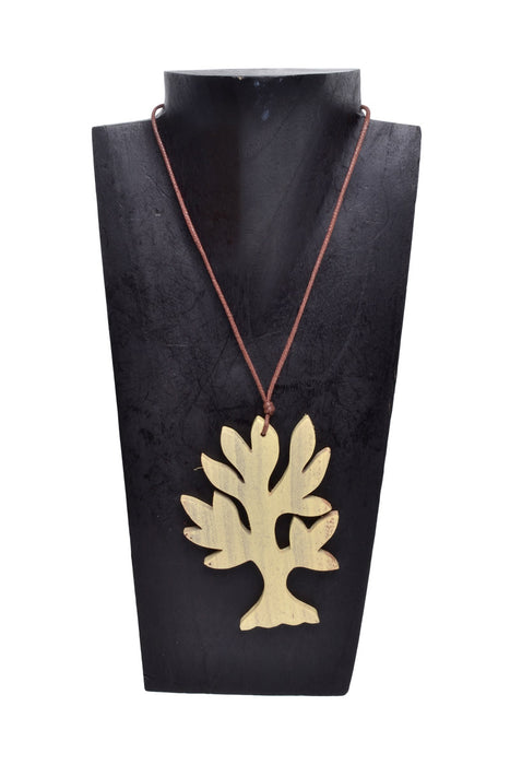 Wooden Flat Tree Necklace