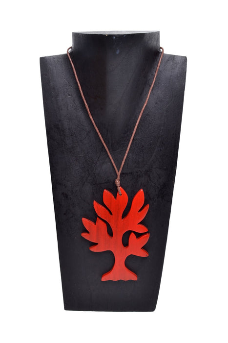 Wooden Flat Tree Necklace - Keshet Unique Colourful Women's Clothing Tasmania Australia