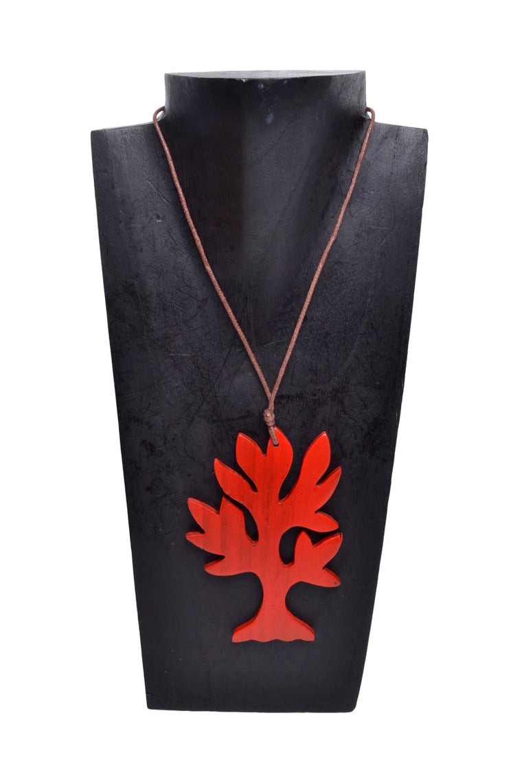 Wooden Flat Tree Necklace - Keshet Clothing Tasmania