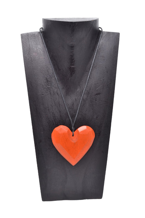 Wooden Heart Necklace - Keshet Unique Colourful Women's Clothing Tasmania Australia
