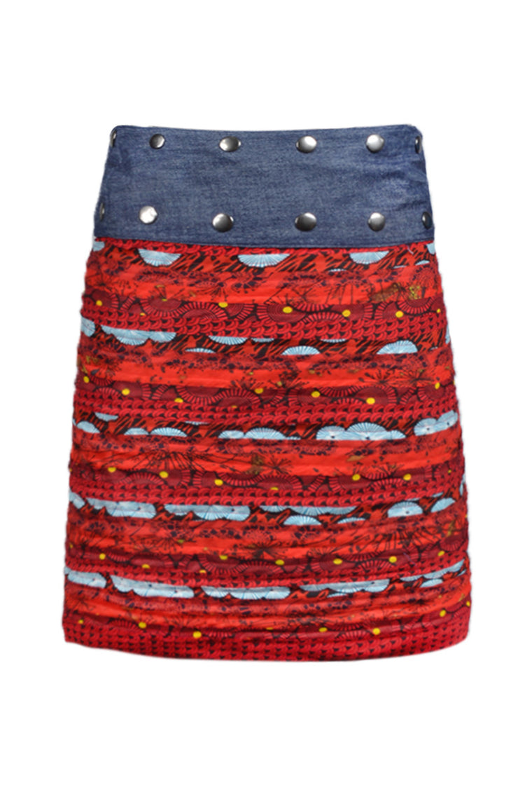 (WRLS) Denim Reverse Layer Skirt - Keshet Clothing Tasmania