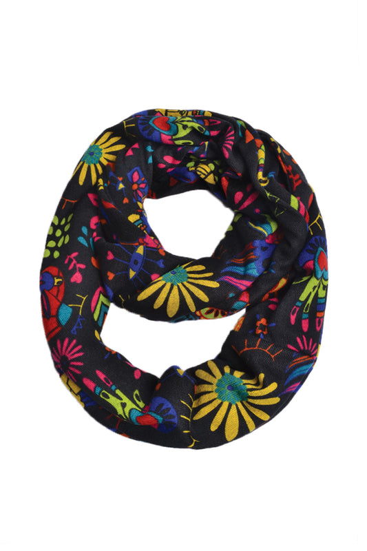 Reversible Loop Scarf Print - Keshet Unique Colourful Women's Clothing Tasmania Australia