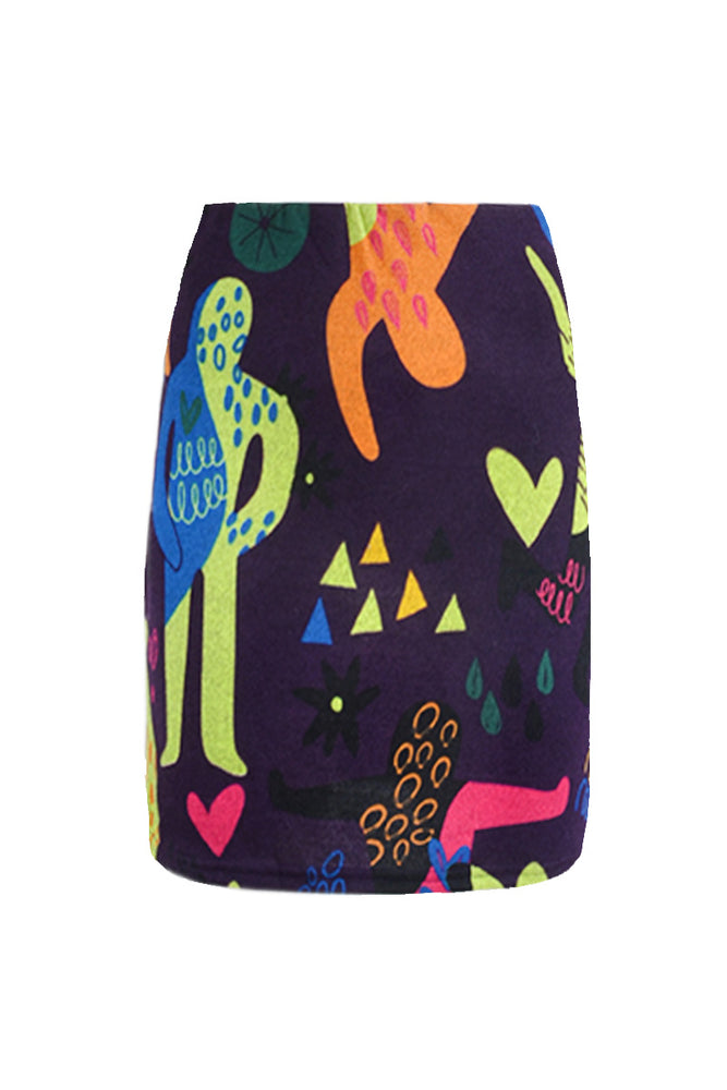 Load image into Gallery viewer, High Waisted Short Pencil Skirt Prints - Keshet Design