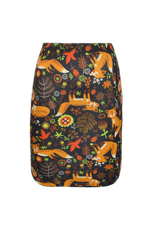 (WSS) High Waisted Short Pencil Skirt Prints