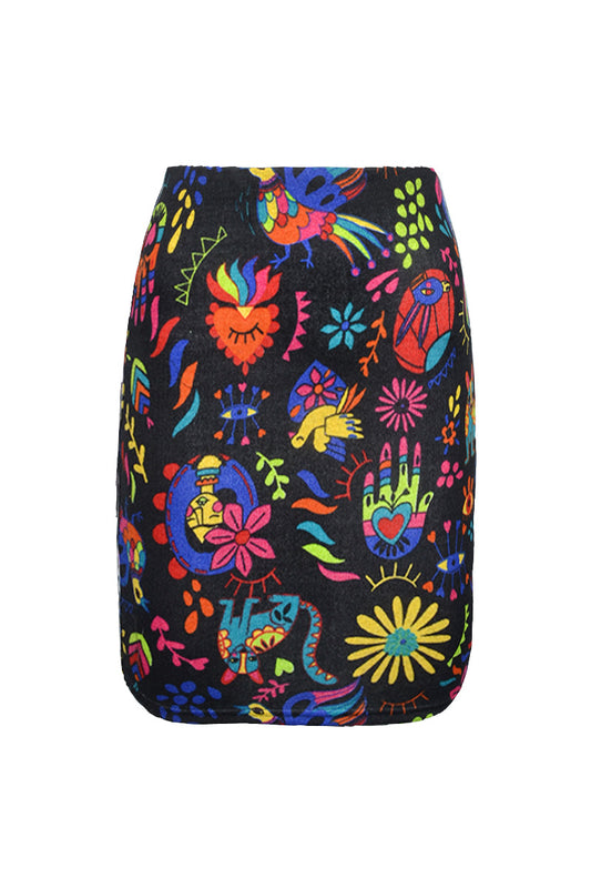 (WSS) High Waisted Short Pencil Skirt Prints - Keshet Clothing Tasmania
