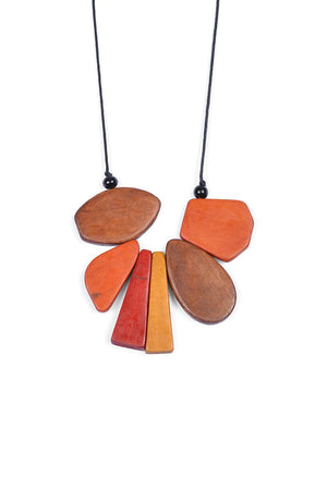 Wooden Mix Shaped Necklaces - Keshet Unique Colourful Women's Clothing Tasmania Australia