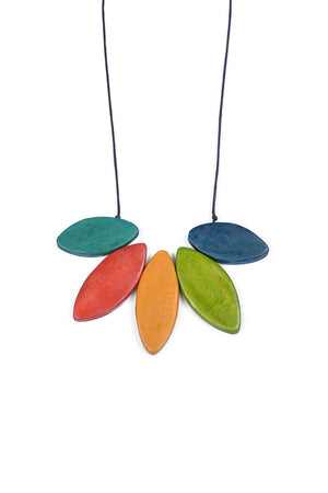Load image into Gallery viewer, Wooden Petal Necklaces - Keshet Unique Colourful Women's Clothing Tasmania Australia