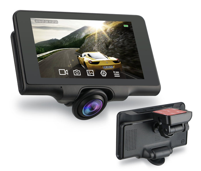 5.0'' IPS touch screen Panoramic car DVRs with GPS Tracking user