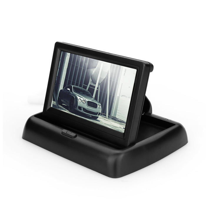 4.3 inch HD Foldable Car Rear View Monitor Reversing Color LCD TFT Display for Truck Vehicle Backup Rearview Camera