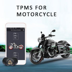Motorcycle Bluetooth Tire Pressure Monitoring System TPMS Mobile Phone APP Detection Bluetooth TPMS for Motorcycles